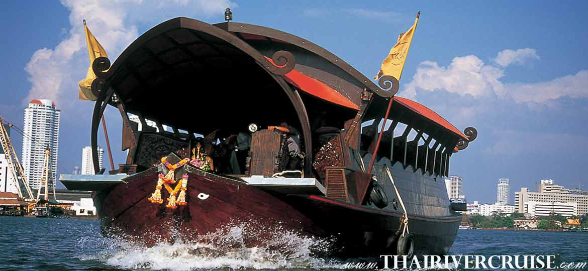 Manohra Cruise Luxury Rice Barge 5 Star Dinner Cruise Bangkok Chaophraya River Thailand
