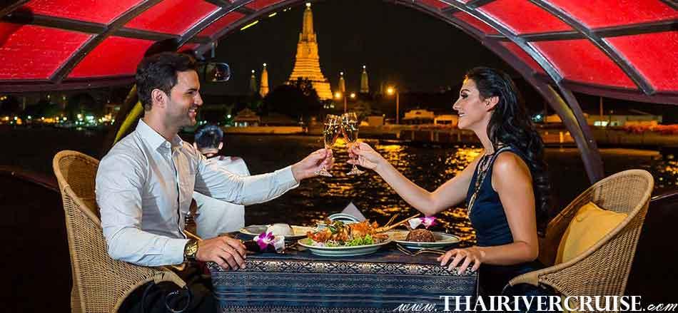 Manohra Cruise Luxury Rice Barge Dinner Cruise Bangkok Thailand.Manohra Cruises Luxury Rice Barge New Year River Cruise Bangkok