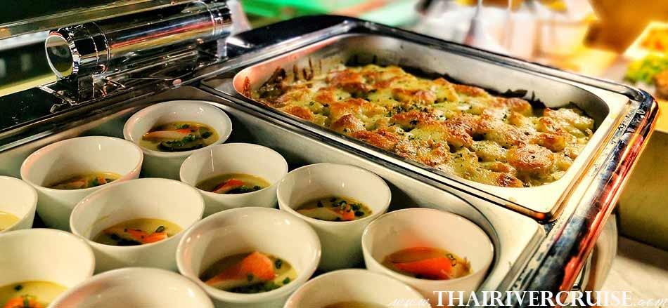 Meridian Alangka Cruise Luxury Elegance Buffet Bangkok Dinner Cruise Chaophraya River