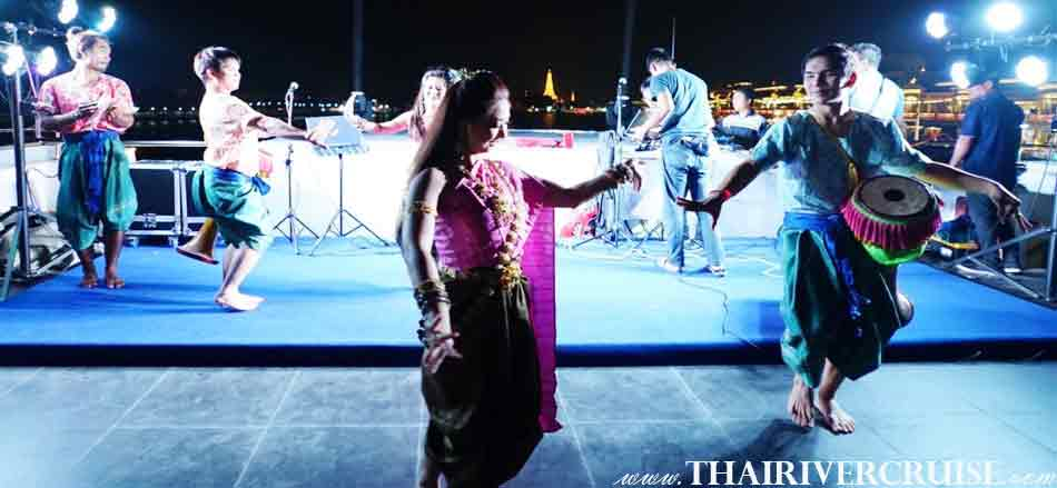 Thai Traditional Show on board  Alangka Cruise Luxury Bangkok Dinner Cruise Chaophraya River