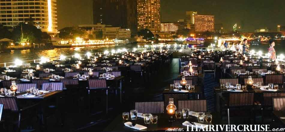 Top desk of  Meridian Alangka Cruise Luxury Bangkok Dinner Cruise Chaophraya River