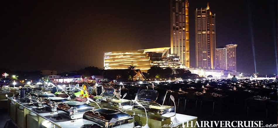 Meridian Alangka Cruise Buffet Chaophraya Dinner Cruise Bangkok Thailand