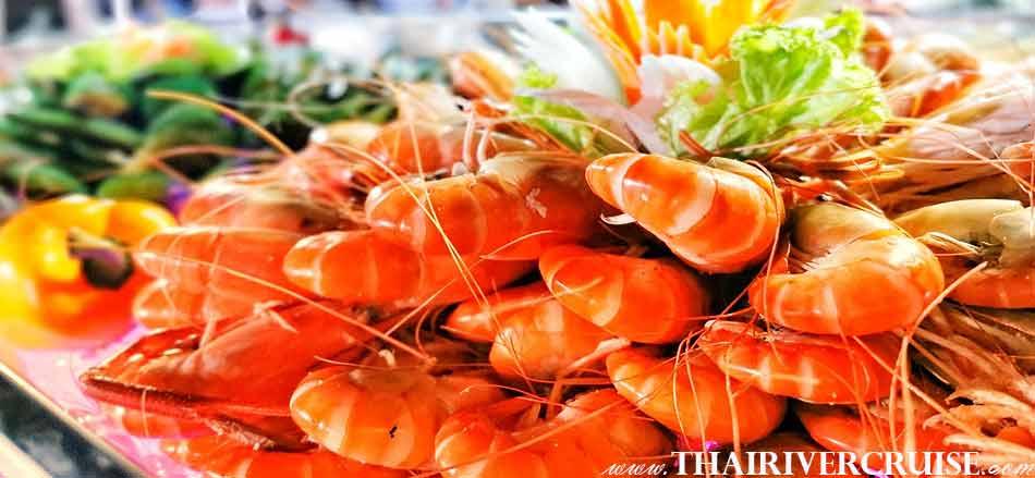 Meridian Alangka Cruise, Shell and Shrimp, Seafood dinner cruise on the Chaophraya river Bangkok, Alangka Cruise Luxury Bangkok Dinner Cruise Chaophraya River