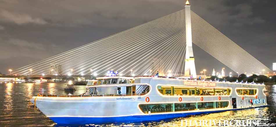 Meridian Alangka Cruise,Best the Bangkok River Cruise, Night dining Bangkok by International & Seafood Buffet Dinner soft drink dinner cruise and shows on Chaophraya river Bangkok,Bangkok Dinner Cruise on The Chao Phraya River