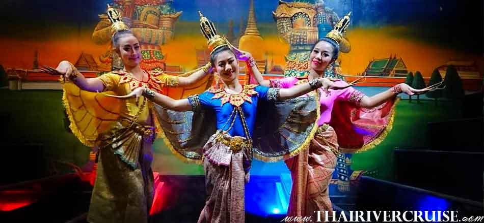 Entertainment on NYE Bangkok Dinner Cruise  by Thai classical dancing Thai traditional show, NYE Dinner Cruise Bangkok New Year Eve & Countdown Fireworks Thailand