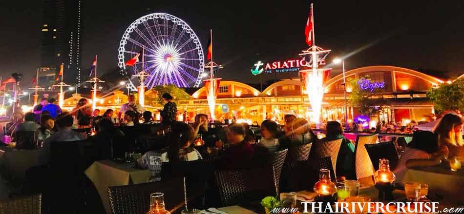 Cruise departure form Asiatique The Riverfront Bangkok, NYE Dinner Cruise Bangkok New Year Eve 2019 Countdown Fireworks Thailand