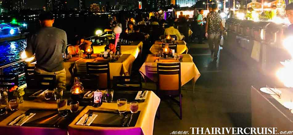Rooftop Top Deck Open Air NYE Dinner Cruise Bangkok New Year Eve 2019 Countdown Fireworks Thailand