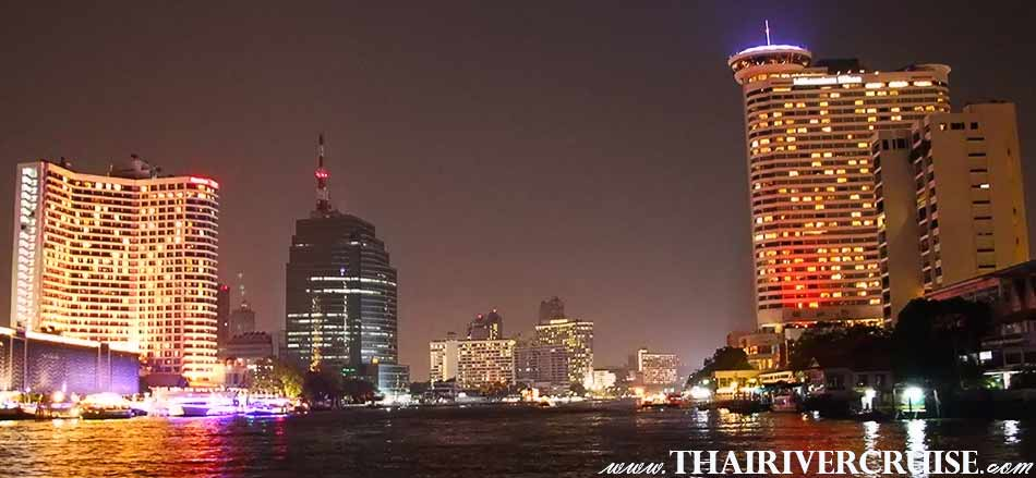 New Year Eve Bangkok, Thailand.The river cruises Chao Phraya River will be passing 5-star hotels along Chao Phraya River