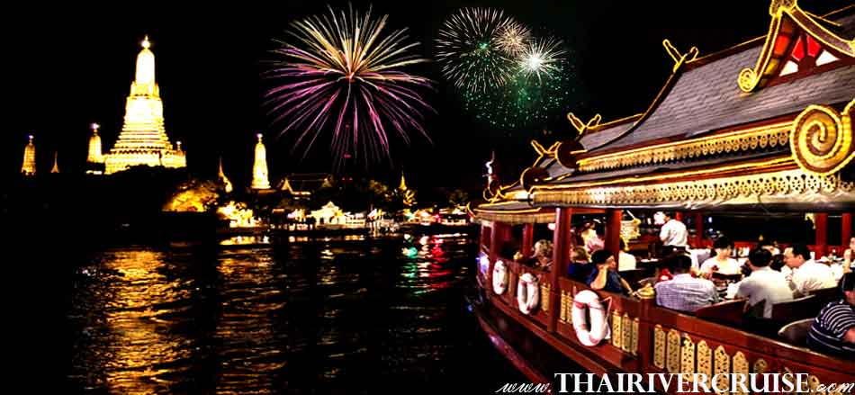 Wanfah Boat luxury rice barge Bangkok New Year's Eve Bangkok Dinner Cruise On Traditional Rice Barge Cruises Thailand