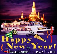New years eve 2013 Bangkok Dinner Cruise by Chaophraya Cruise
