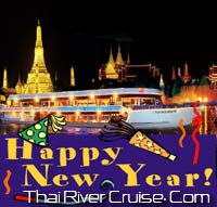 New years eve 2014 Bangkok Dinner Cruise by White Orchid River Cruise