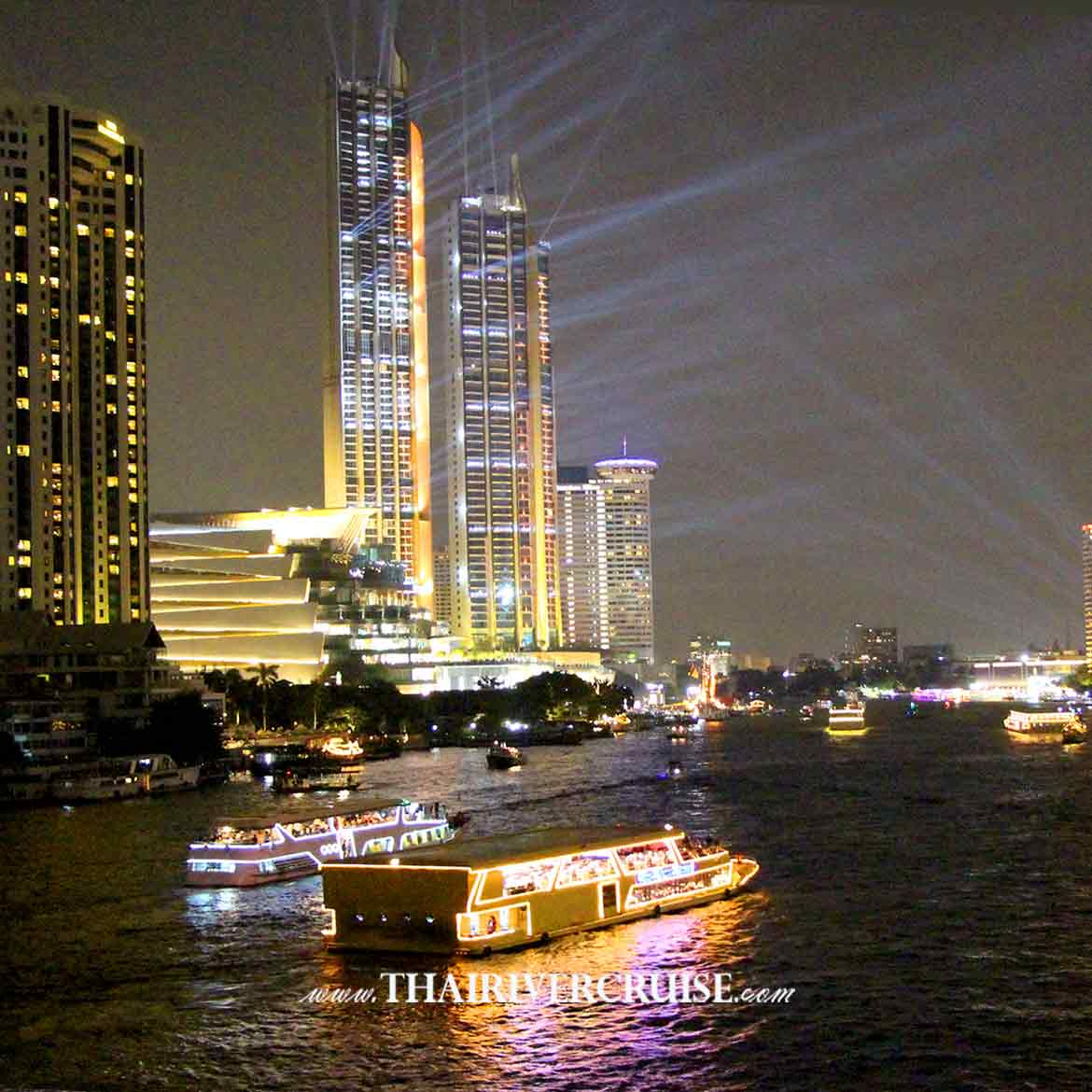 Bangkok New Year EVE 2020 River Cruises alongthe Chao Phraya River, Come & enjoy to see on Countdown night on Tuesday 31, December 2019