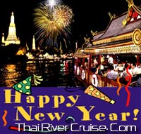 New years eve Bangkok Dinner Cruise by Wanfah Cruise