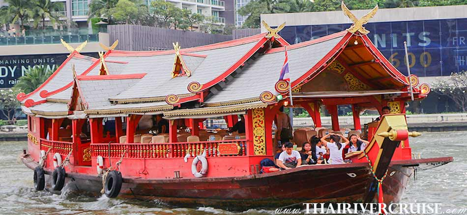 Charter Private Boat Bangkok Rice Barge Dinner Cruise Thai Classical Dancing Thailand