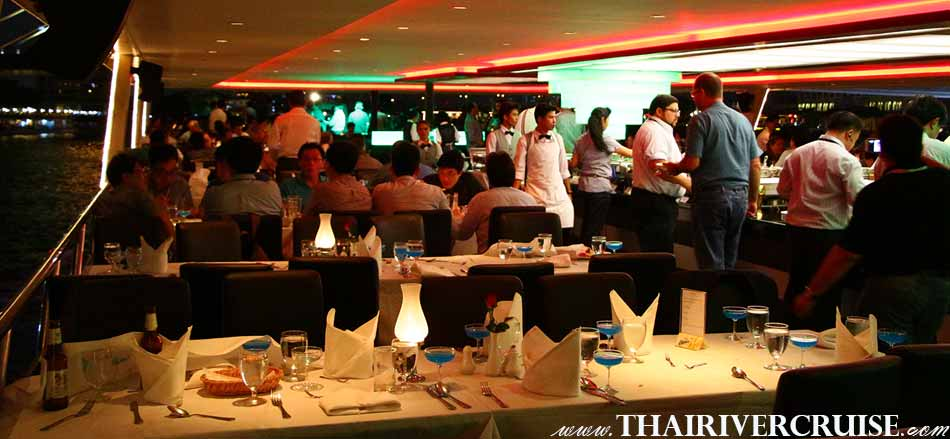 Thank you party private large luxury gala dinner cruise onboard  Chaophraya river cruise & buffet dinner cruise along Chaophraya river Bangkok Thailand