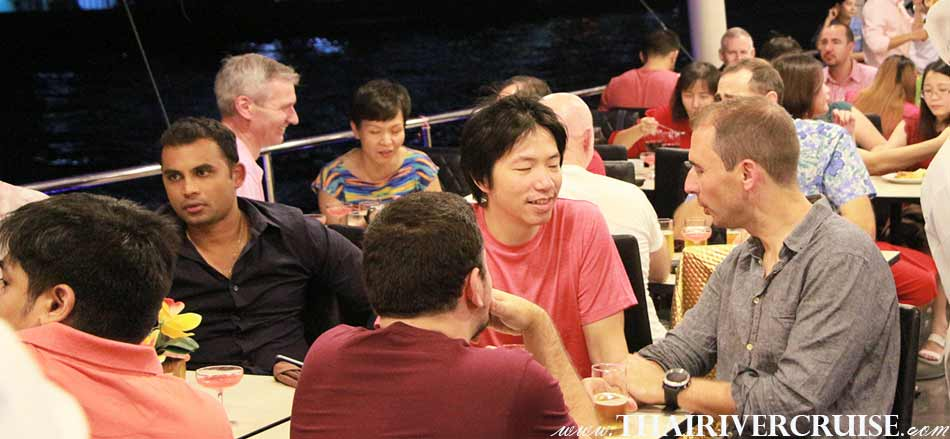 Spend and exciting and memorable long evening cruising and dining along Chaophraya river, private dinning cruise Bangkok,Thailand