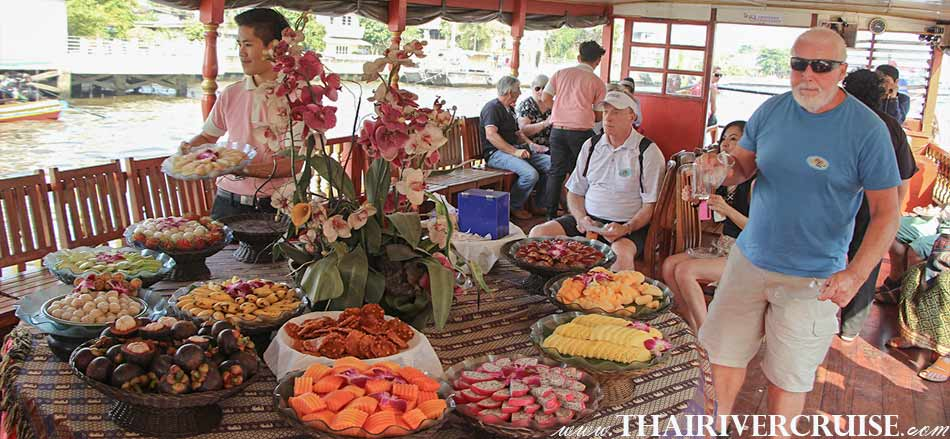 Enjoy on board Rice Barge Canal Tour Bangkok Klong Boat Tour Bangkok Thailand