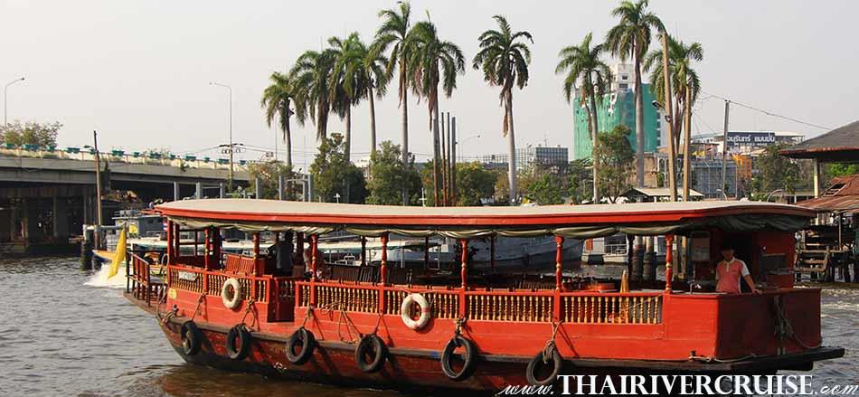 Long Tails Boat Canal Tour Chaophraya River Bangkok Thailand.