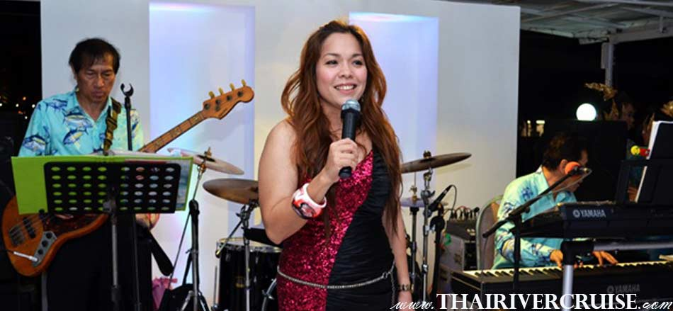Professional singer and live music on board River Star Princess Cruise Bangkok Thailand by Thai classical dancing and live band music