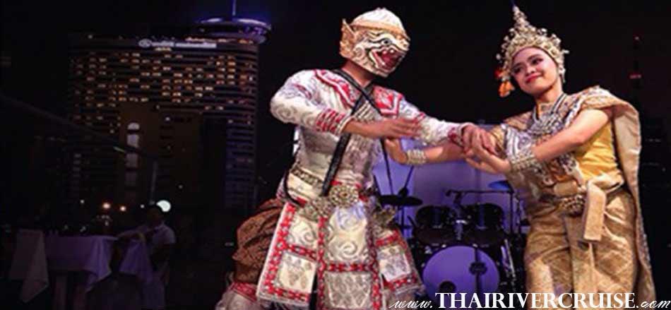 การแสดง ศิลปะรำไทย นาฏศิลป์ พร้อมด้วย นักร้อง ดนตรี บนเรือ ริเวอร์ สตาร์ ปริ้นเซส