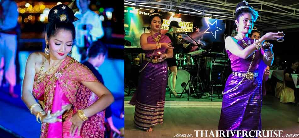Welcome and enjoy with our entertainment beautiful Thai classical dance traditional show on board River Star Princess Cruise Bangkok Thailand by Thai classical dancing and live band music