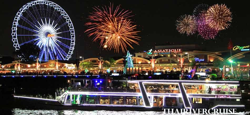 River Star Princess Cruise New Year EVE Dinner Cruise Chaophraya River Thailand