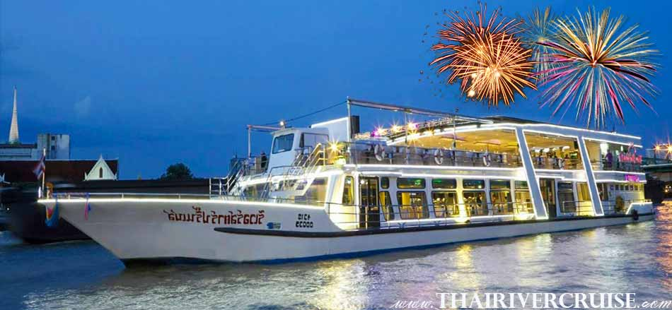 River Star Princess Cruise New Year EVE Dinner Cruise Chaophraya River Thailand