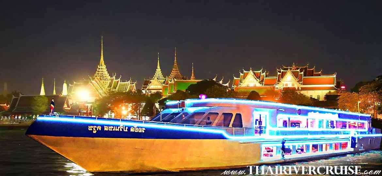 The Royal Princess Cruise, the new Bangkok luxury large and elegance modern dinner cruise on the Chaophraya river Bangkok,Thailand