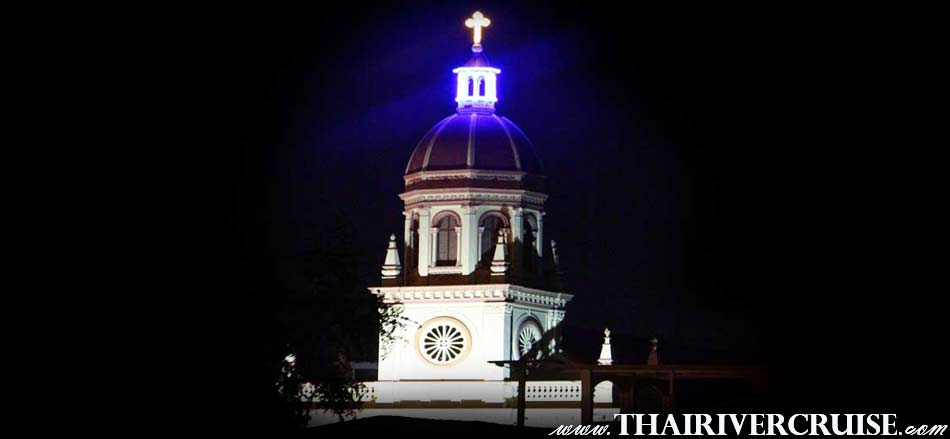 Santa Cruz Church Bangkok,The Beautiful Night Scenery Along the Chaophraya River Bangkok Thailand