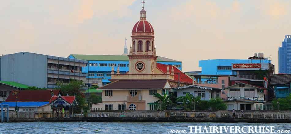 Santa Cruz Church Bangkok, Bangkok Sunset View of Chao Phraya river,Thailand