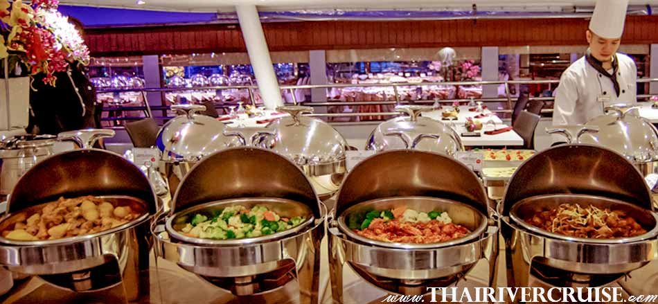 International Buffet and Seafood Dinner Cruise Bangkok Floating Restaurant River Thailand