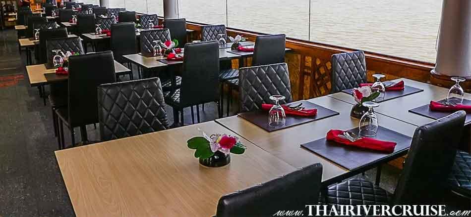 ล่องเรือ ชม แม่น้ำเจ้าพระยา กลางวัน เรือท่องเที่ยว เจ้าพระยา ทานอาหาร บน เรือ