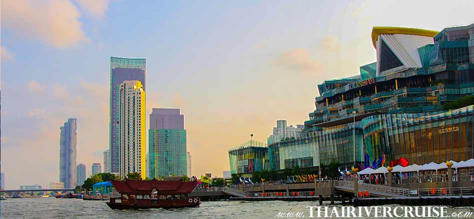 ICON SIAM,Sunset Boat Tour Bangkok Private Long Tail Boat Tour