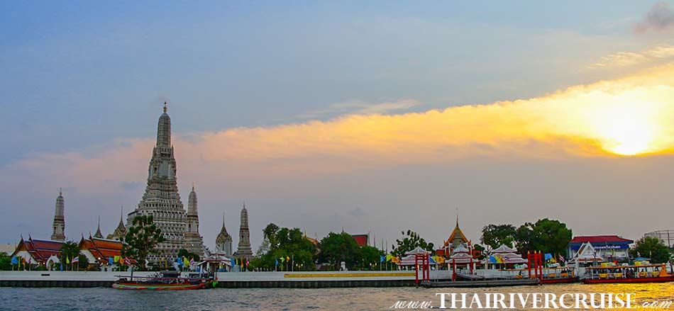 WAT ARUN TEMPLE OF DAWN,Sunset Boat Tour Bangkok Private Long Tail Boat Tour