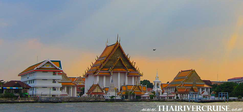 WAT KALAYAMIT WORMAHAVIHARN,Sunset Boat Tour Bangkok Private Long Tail Boat Tour