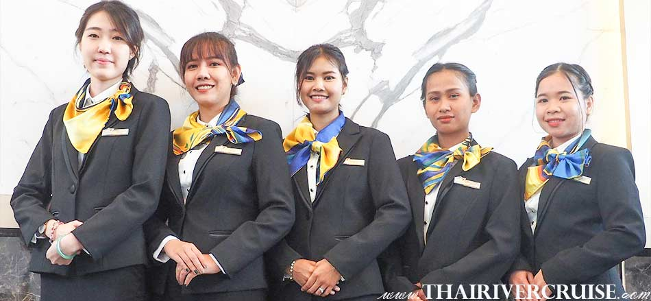 Friendly service on board The Bangkok River Cruise