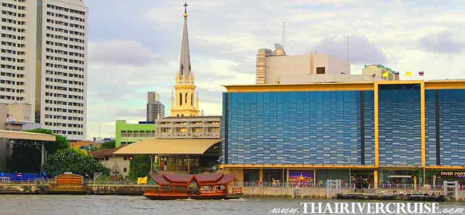 The Holy Rosary Church Bangkok, Bangkok Sunset View of Chao Phraya river,Thailand