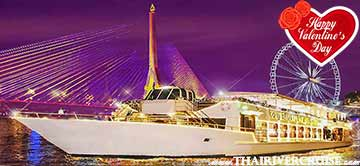 Chaophraya Cruise Valentine 5 Star Dinner River Cruise Bangkok Thailand