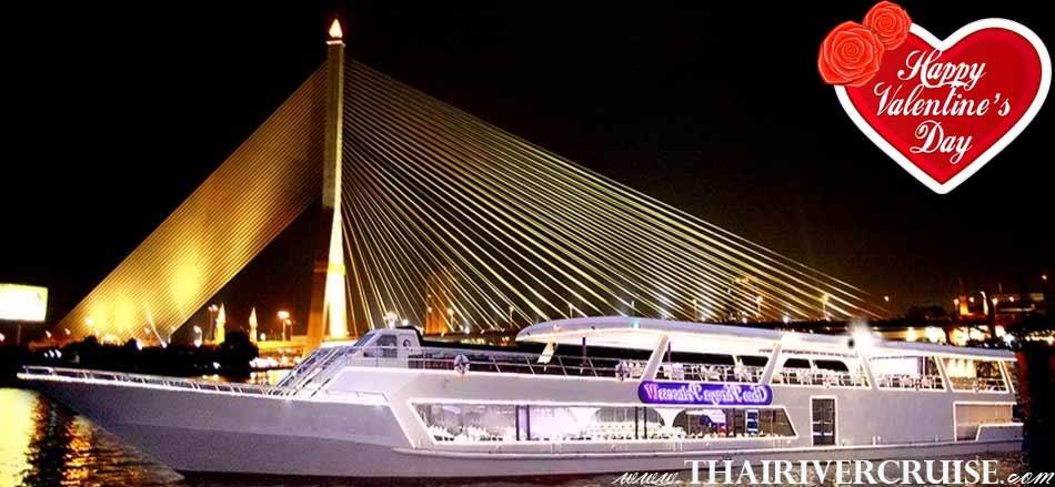 Chaophraya Princess Cruise Chaophraya valentine riverdinner cruise alongChaophraya river Bangkok Thailand