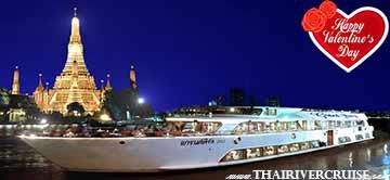 Romantic Dinner Valentine Day Bangkok Grand Pearl Cruise Thailand