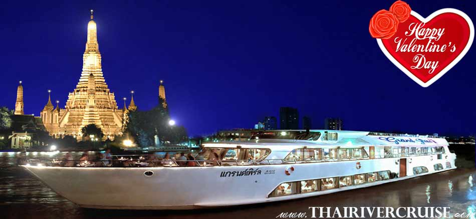 Romantic Dinner Valentine Day Bangkok Grand Pearl Cruise Thailand
