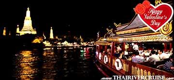 Bangkok Best Place Valentine Dinner Cruise Wanfah Cruise Thailand