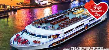 Valentine Dinner Cruise  on White Orchid River Dinner Cruise Thailand