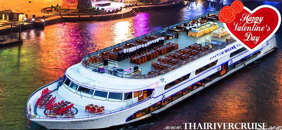 Rooftop Valentine's Day Candle Light Dinner Bangkok White Orchid River Cruise