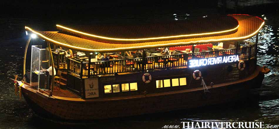 Vegetarian Dinner Cruise on Rice Barge Thai traditional ARC ARENA RIVER CRUISE