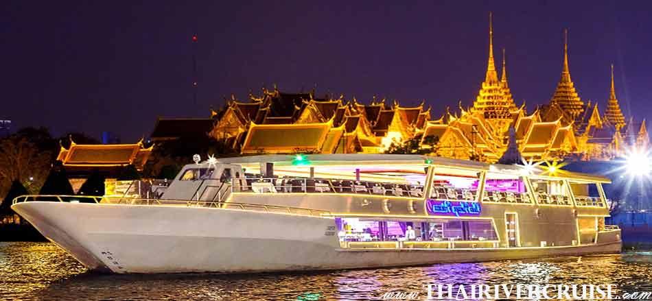 Vegetarian Dinner Cruise On Board Modern Chaophraya River Cruises CHAOPHRAYA PRINCESS CRUISE