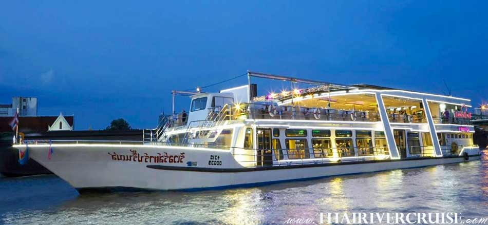 Vegetarian Dinner Cruise On Board Modern Chaophraya River Cruises  RIVER STAR PRINCESS CRUISE
