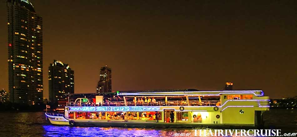 Vegetarian Dinner Cruise On Board Modern Chaophraya River Cruises SEA FOOD DINNER CRUISE
