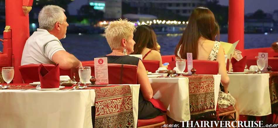 New Year Eve Boat Restaurant Dinner Bangkok Wanfah Boat Thailand