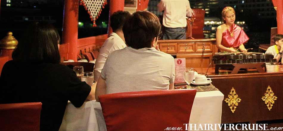 New Year EveBoat Restaurant Dinner Bangkok Wanfah Boat Thailand